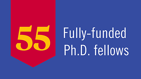 55 Fully Funded Ph.D. Fellows Graphic