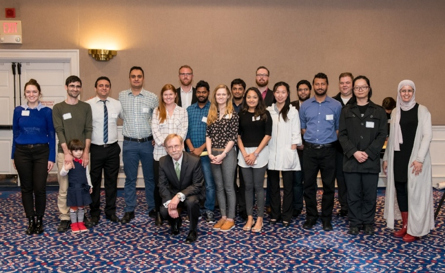 group of students and faculty at research day