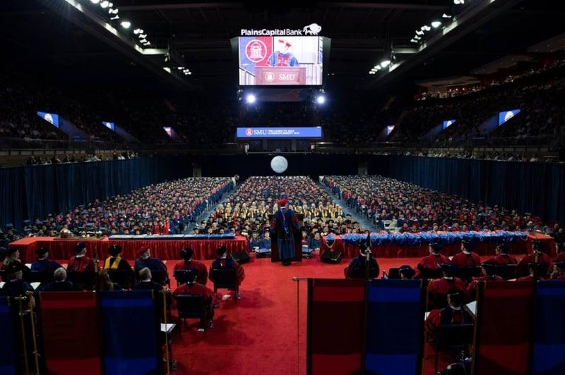 SMU Commencement-students-auditorium